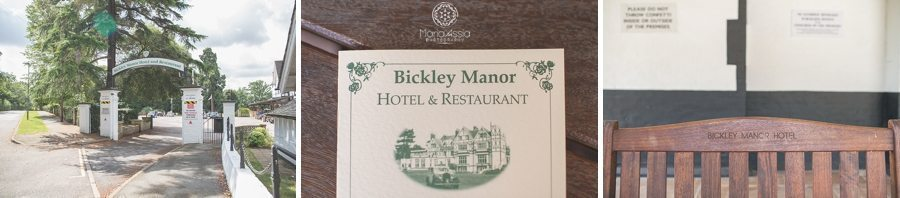 Bickley Manor Hotel signs and leaflets