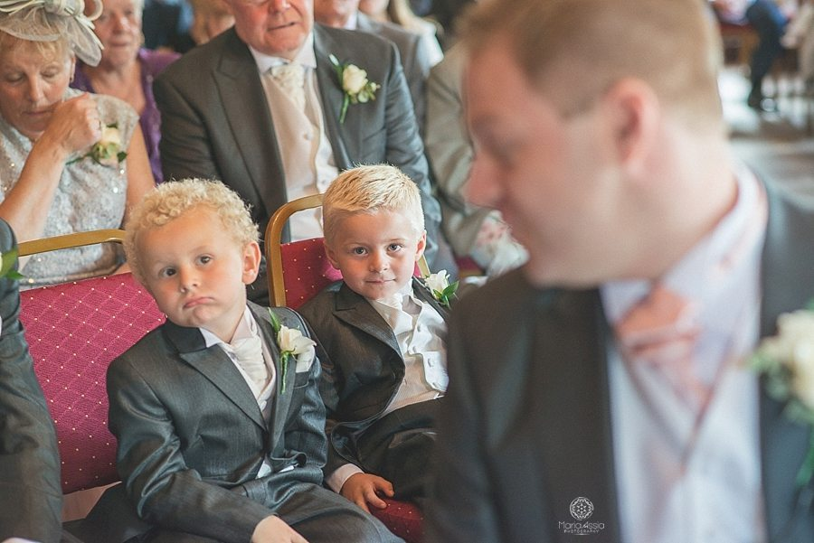 Groom's son and Nephew looking at the Groom