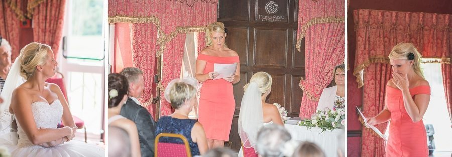 Emotional reading during a wedding ceremony