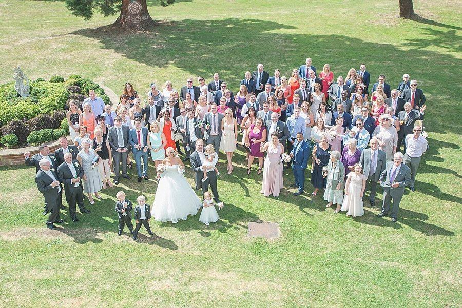 Wedding guests groupshot
