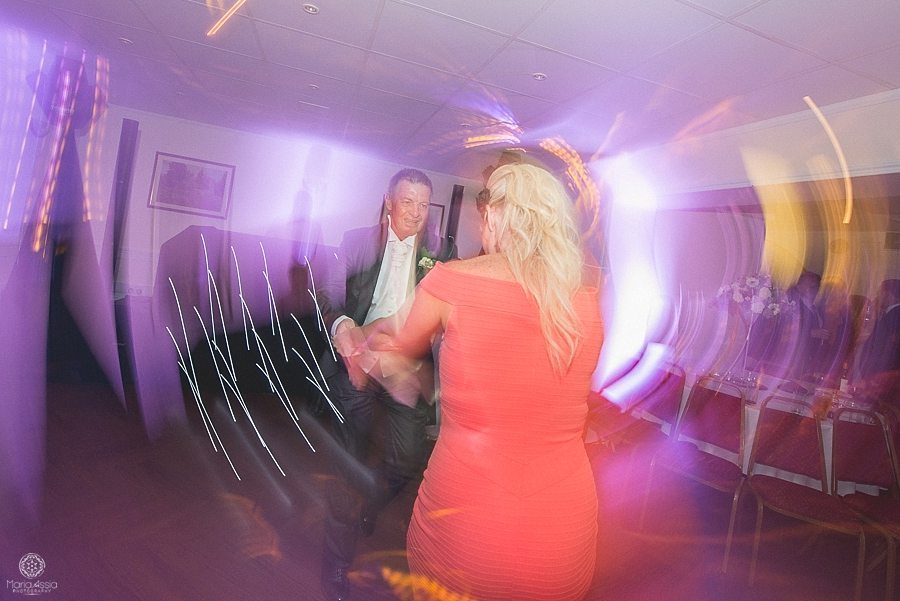 Wedding guests dancing at Bickley Manor Hotel