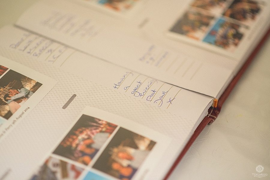 Wedding guest entries in the bride and groom's wedding book