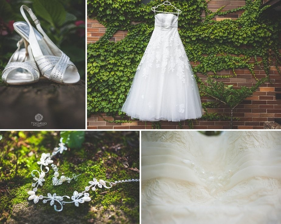 Prague Start Summer Palace Wedding dress and shoes.jpg