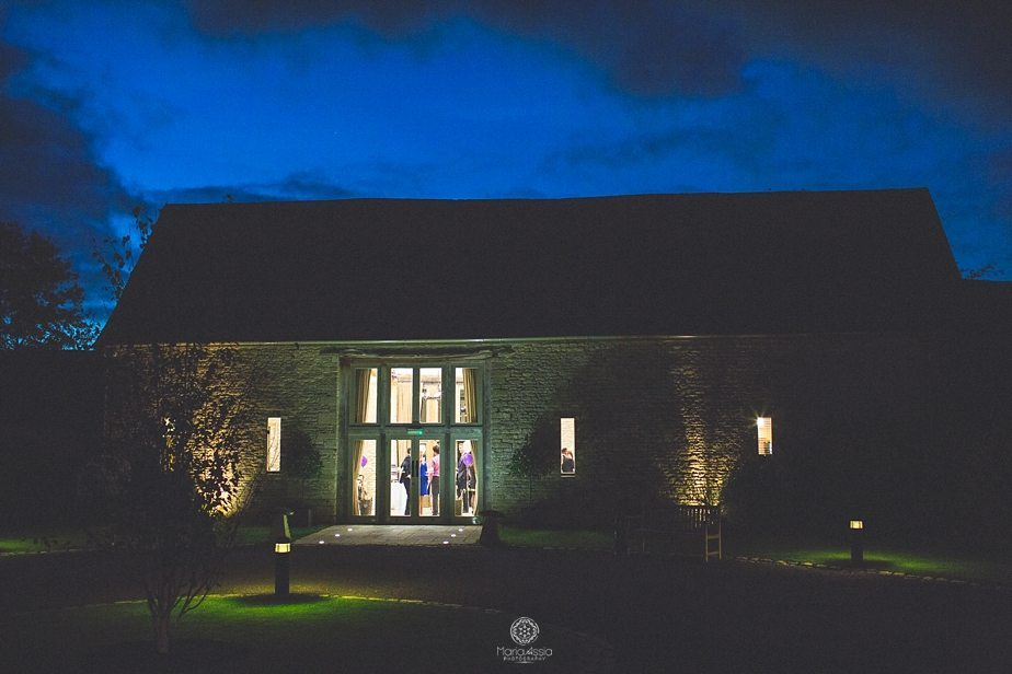 Caswell House wedding at night