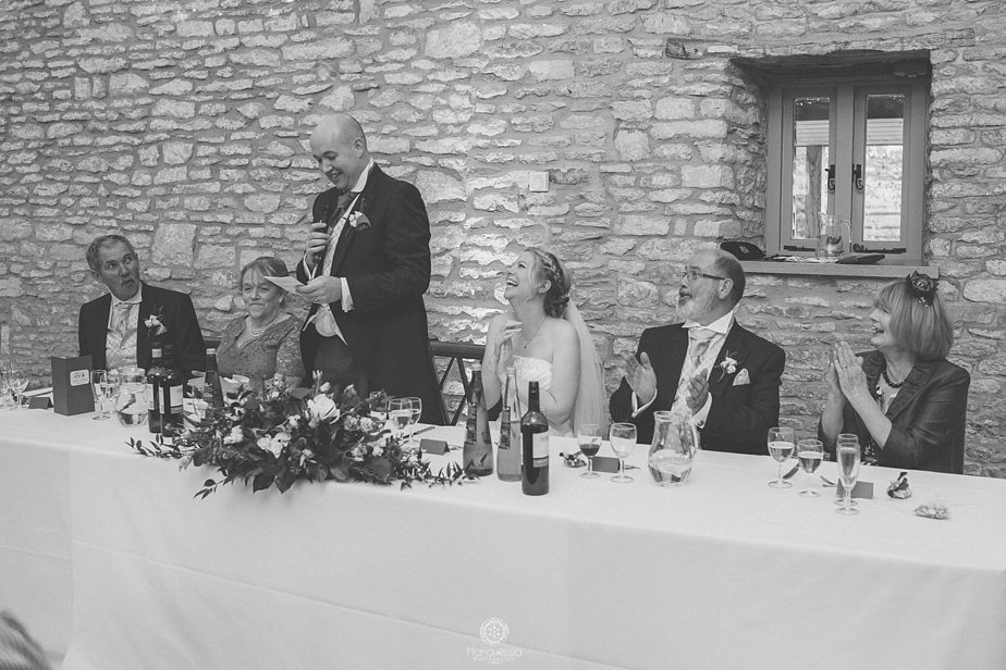 The groom's speech at Caswell House wedding