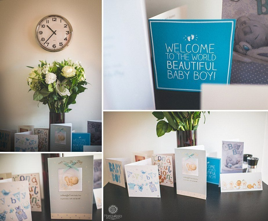 Flowers and newborn cards