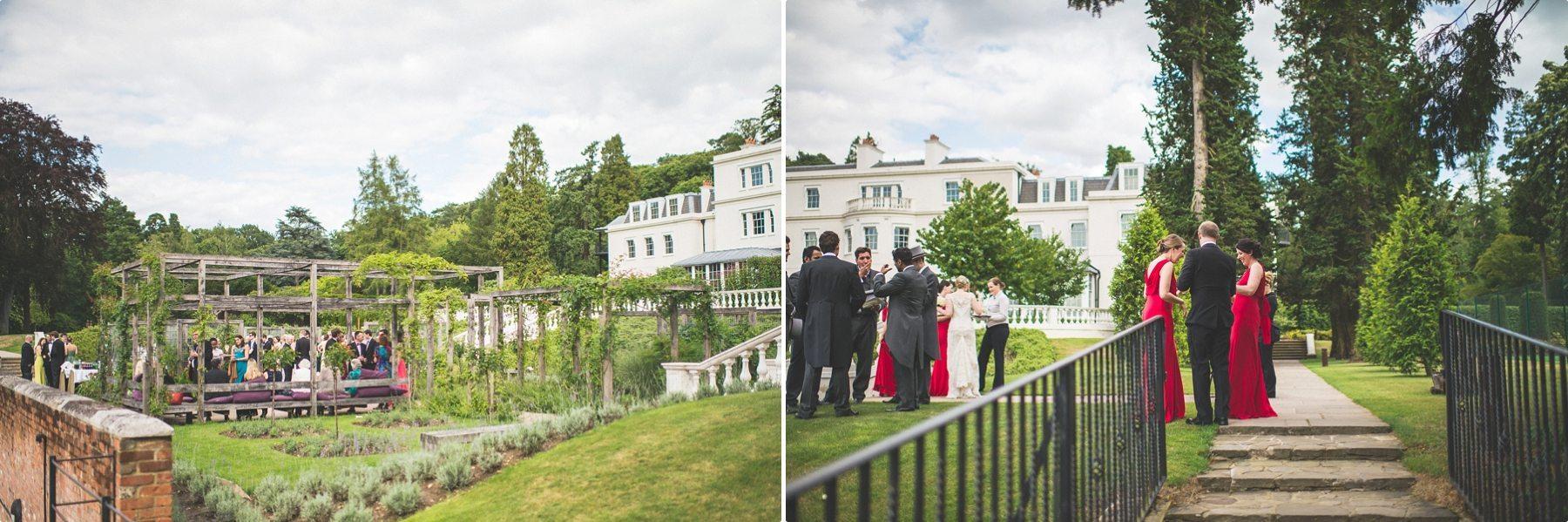 Coworth Park Barn summer wedding photography