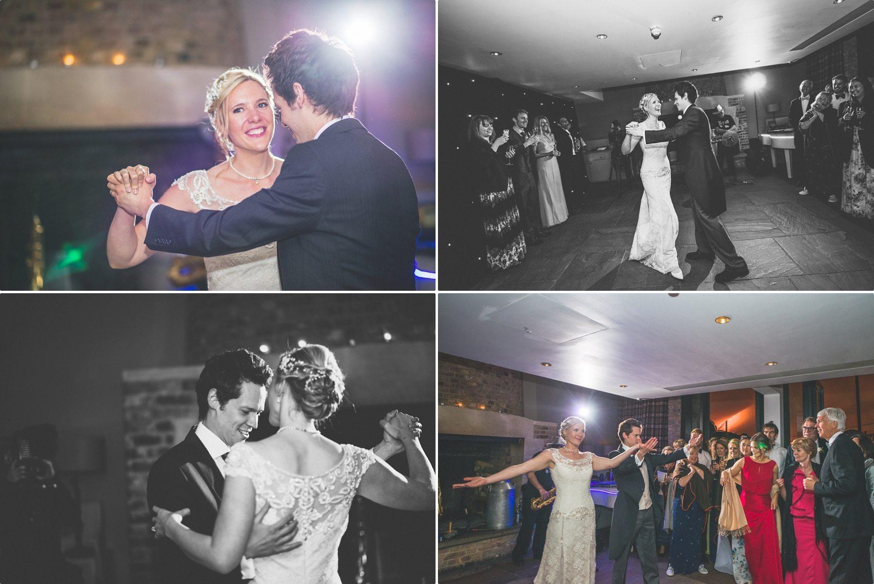 coworth park barn summer wedding bride and groom first dance