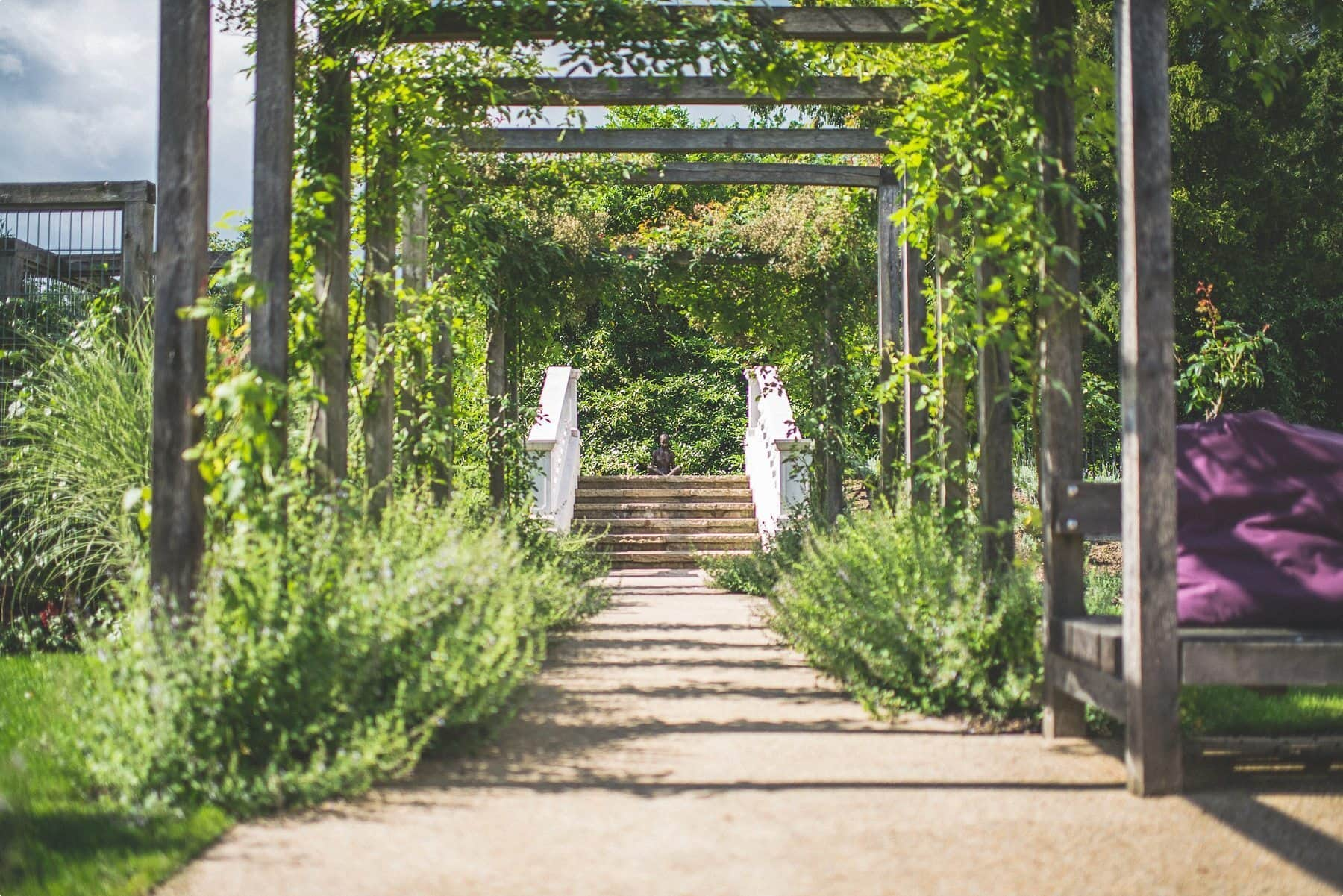 Coworth Park wedding venue grounds and statue