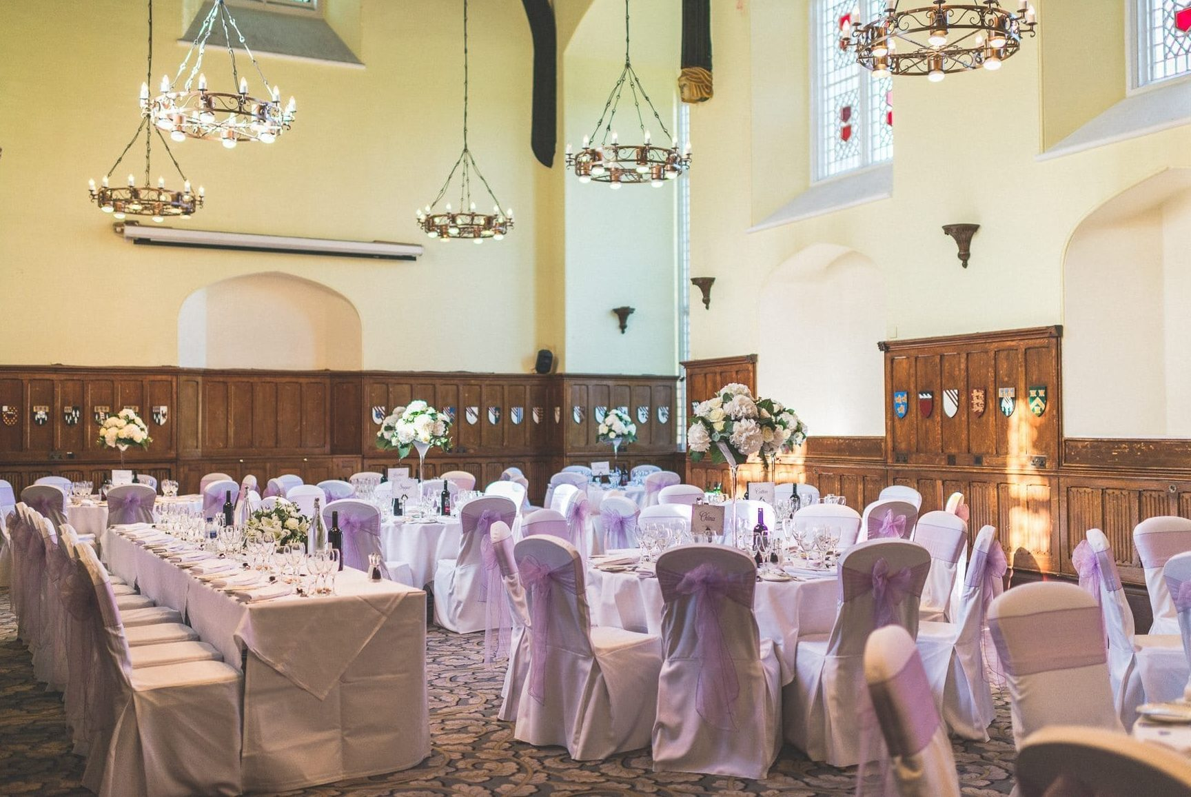 Decadent champagne and lilac wedding theme