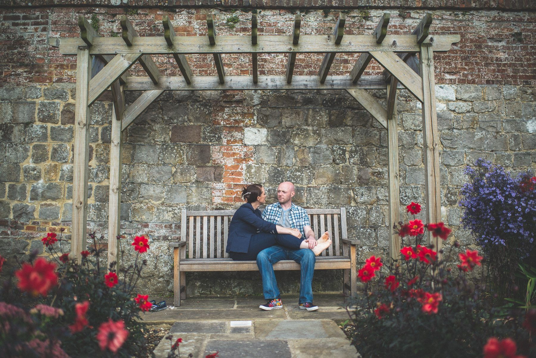 Farnham Castle misty early morning Engagement shoot, pre wedding shoot at Farnham Castle