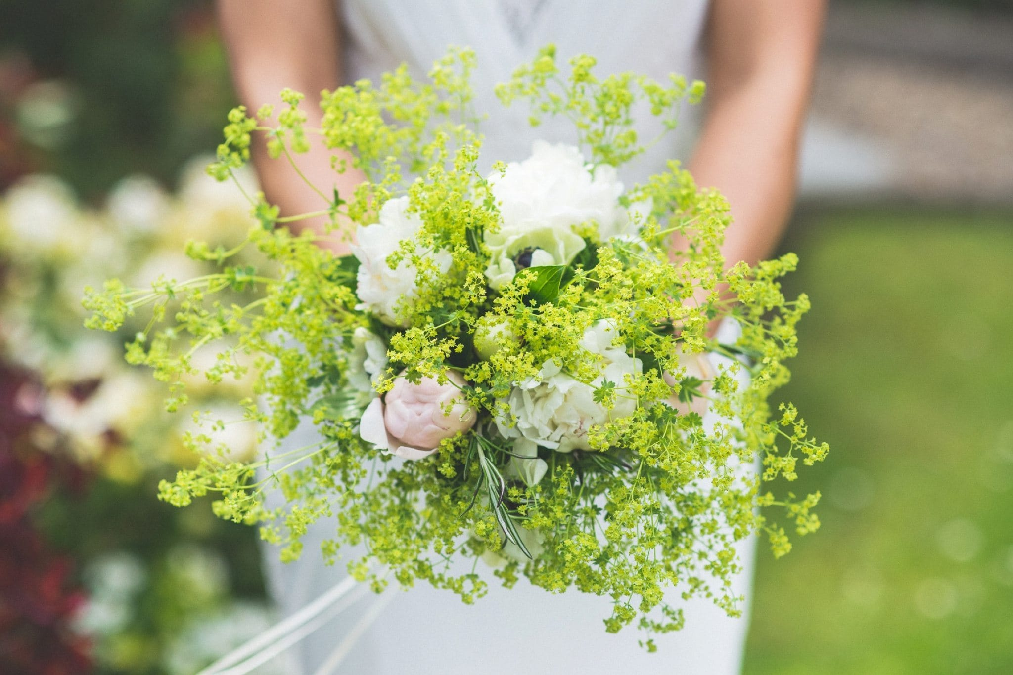 Bride's elegant wedding bouquet for her Two Temple Place wedding