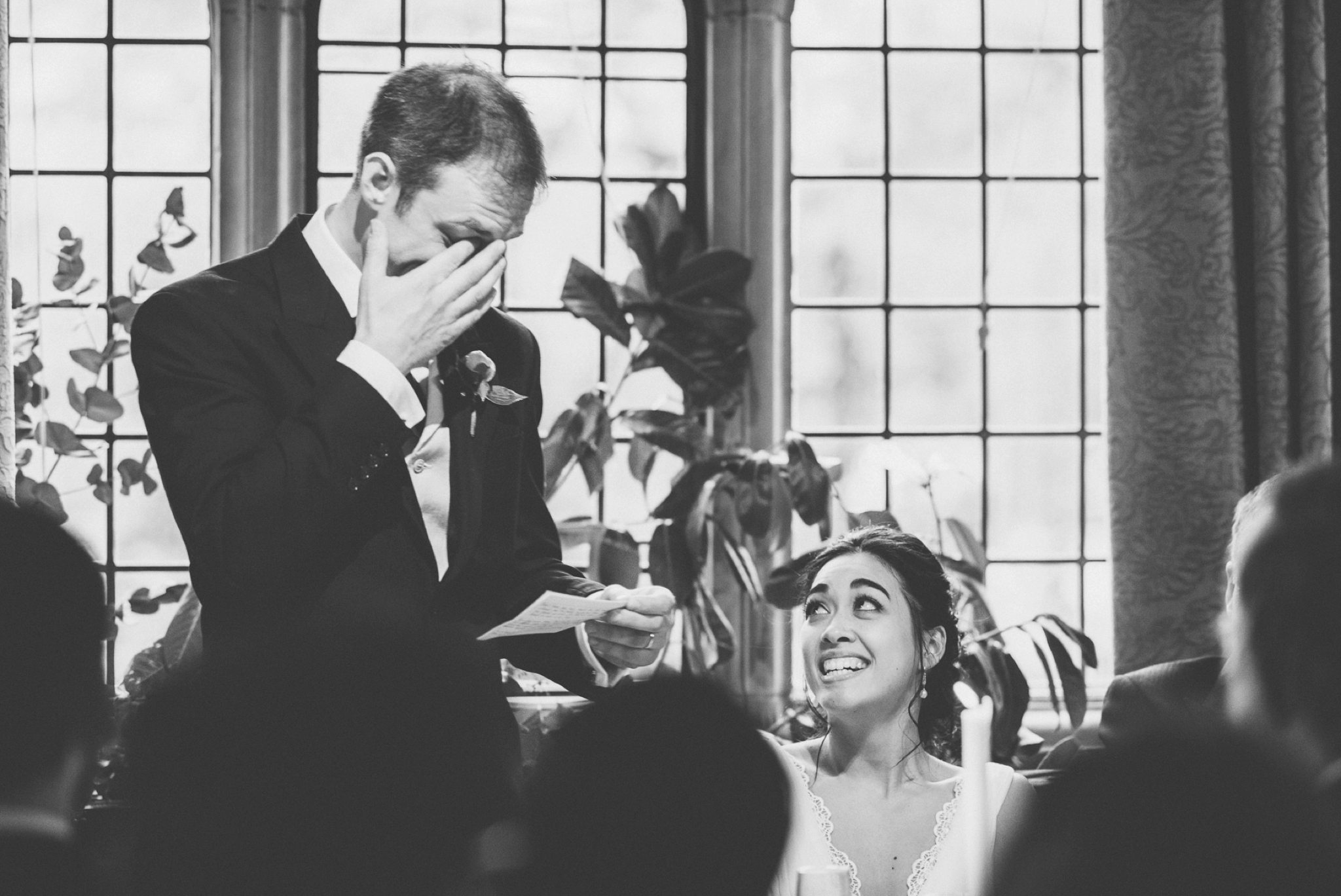 Emotional groom's speech tearing up at his Two Temple Place Wedding speech