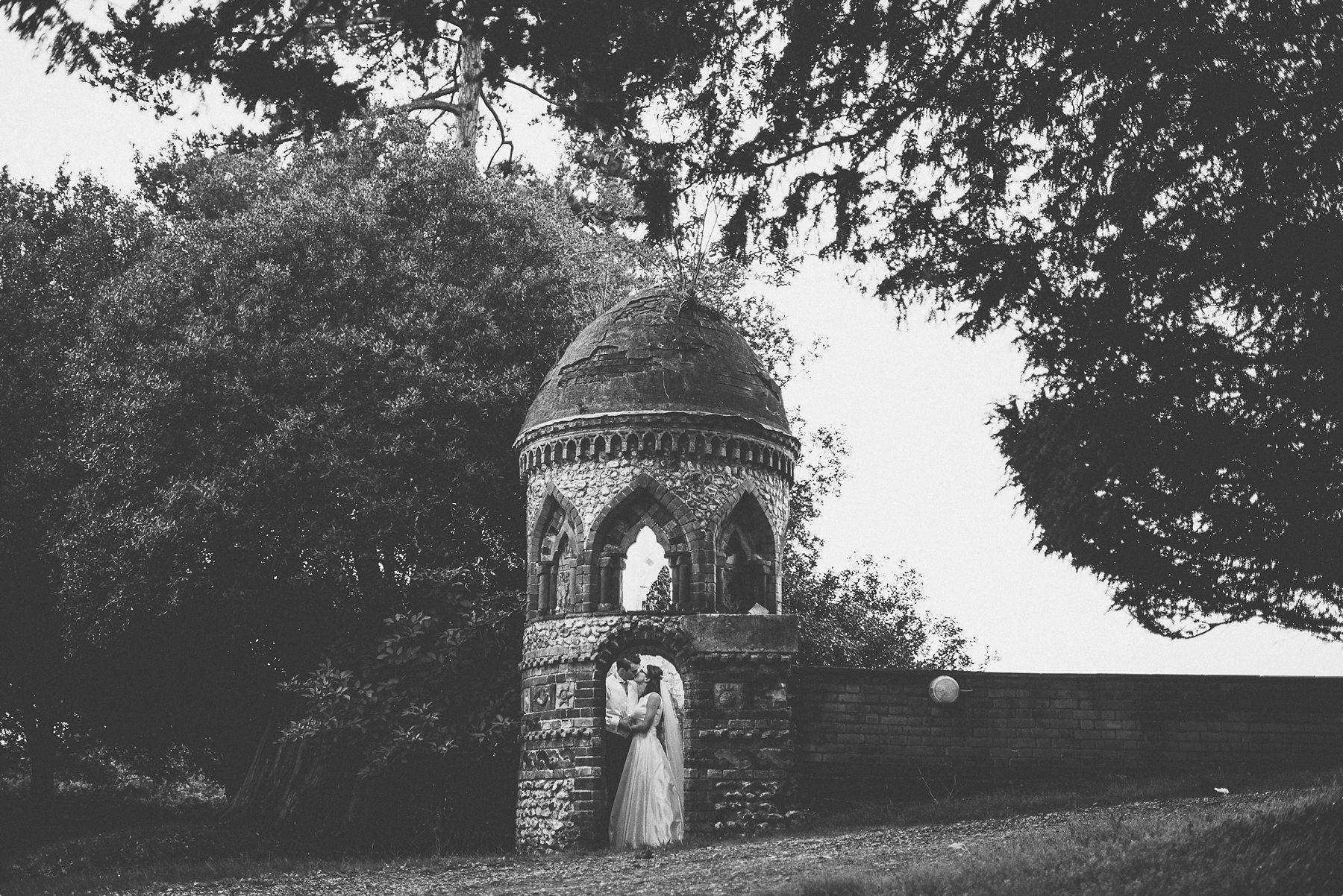 quirky horsley park autumn wedding portrait
