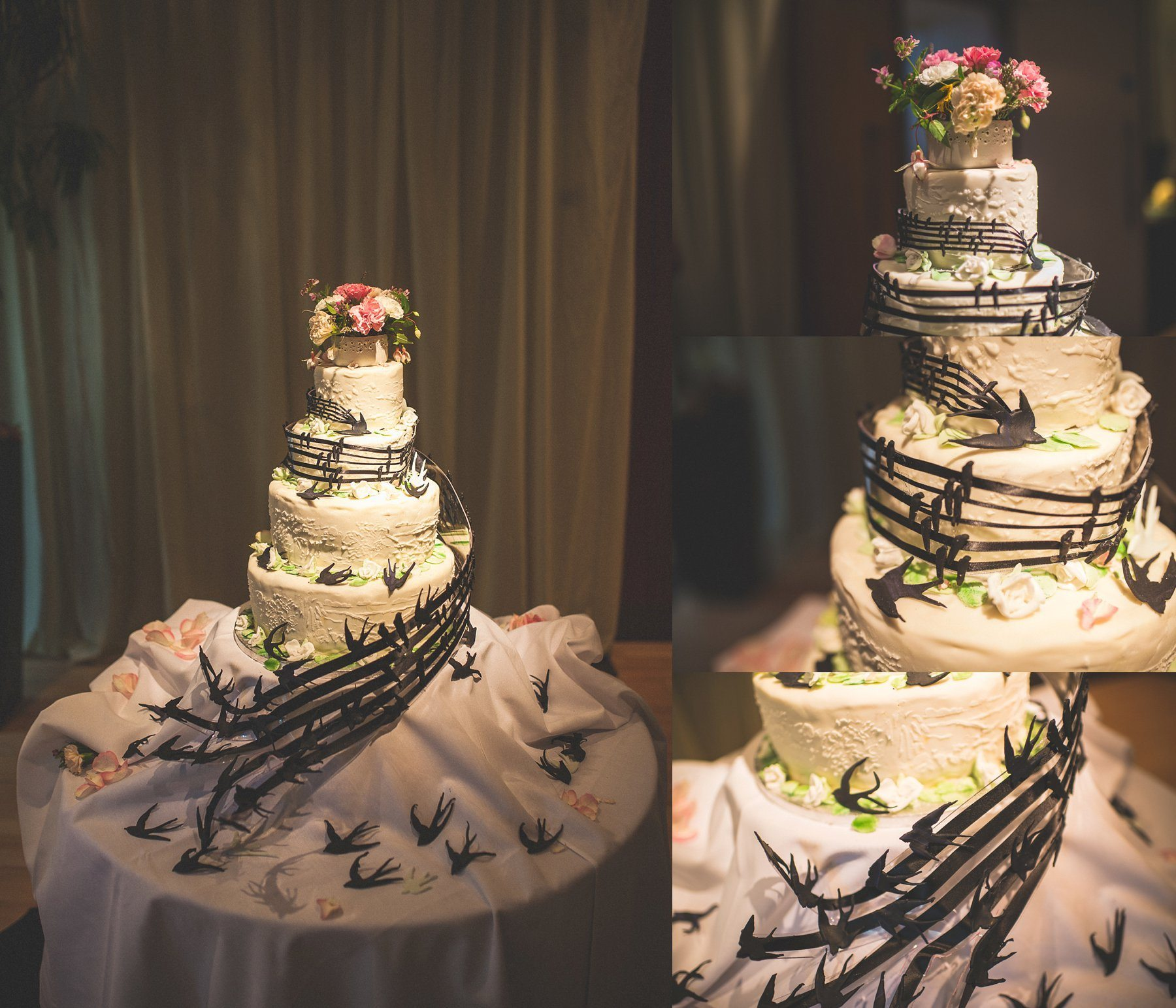 Glamorous Music Themed Chelsea Wedding Cake