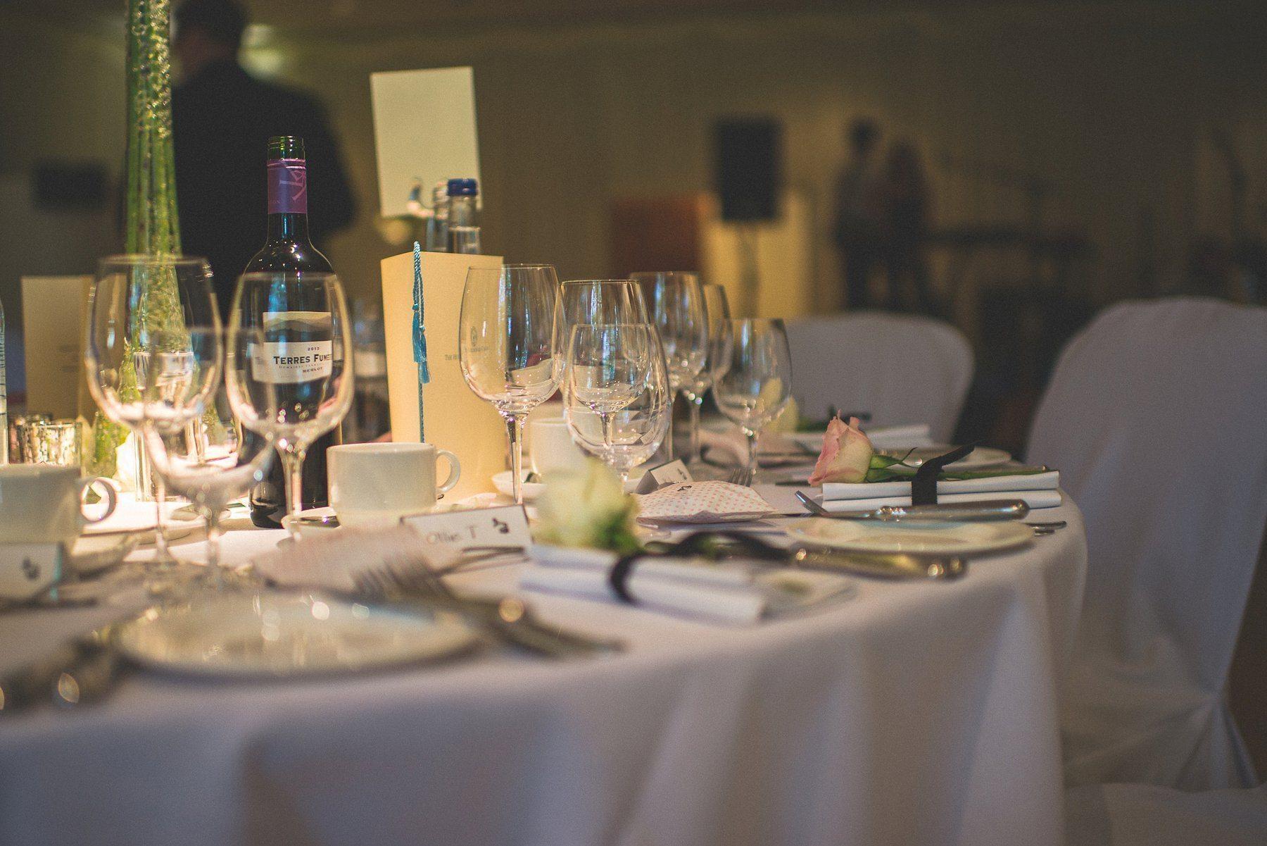 The Hurlingham Club wedding breakfast table settings