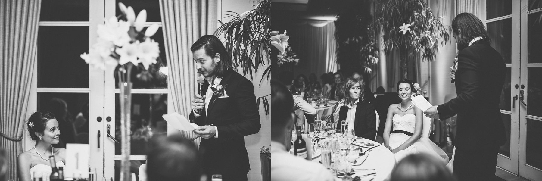 Groom's speech at the Hurlingham Club in Chelsea