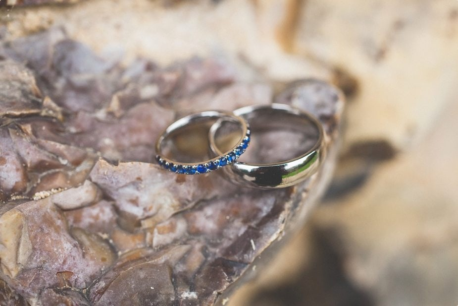 Sapphire Eternity Wedding ring at Heddingham Castle