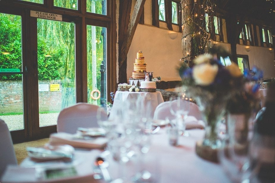 Delicious Naked cake at Smeetham Hall Barn rustic rainy wedding breakfast