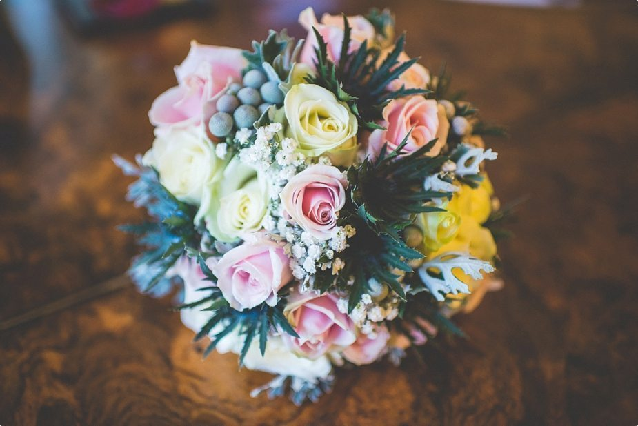 Bride's wedding bouquet at The Old Rectory Country House