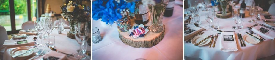 Smeetham hall Barn rustic Wedding table settings