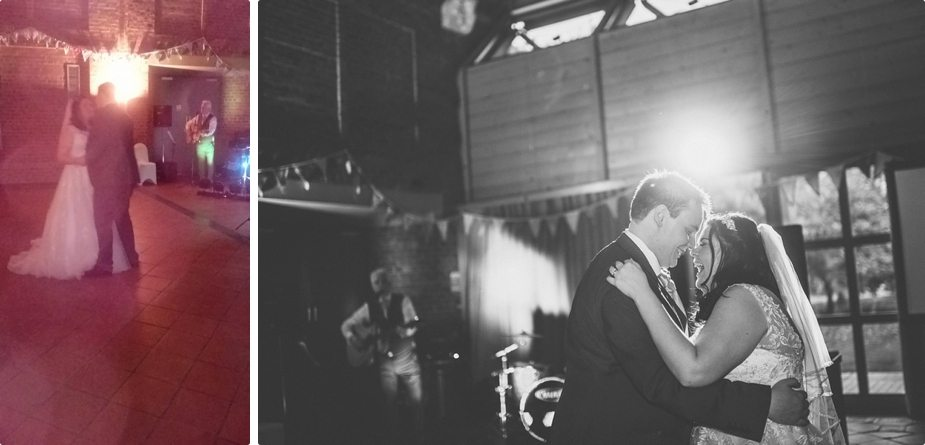 wedding guest photo vs a professional wedding photo