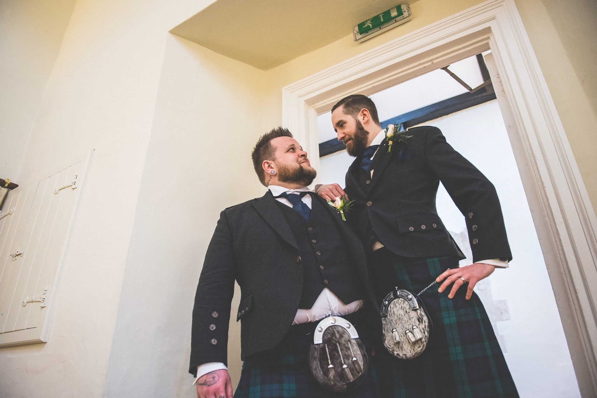 Scottish Groomsmen at Farnham Castle