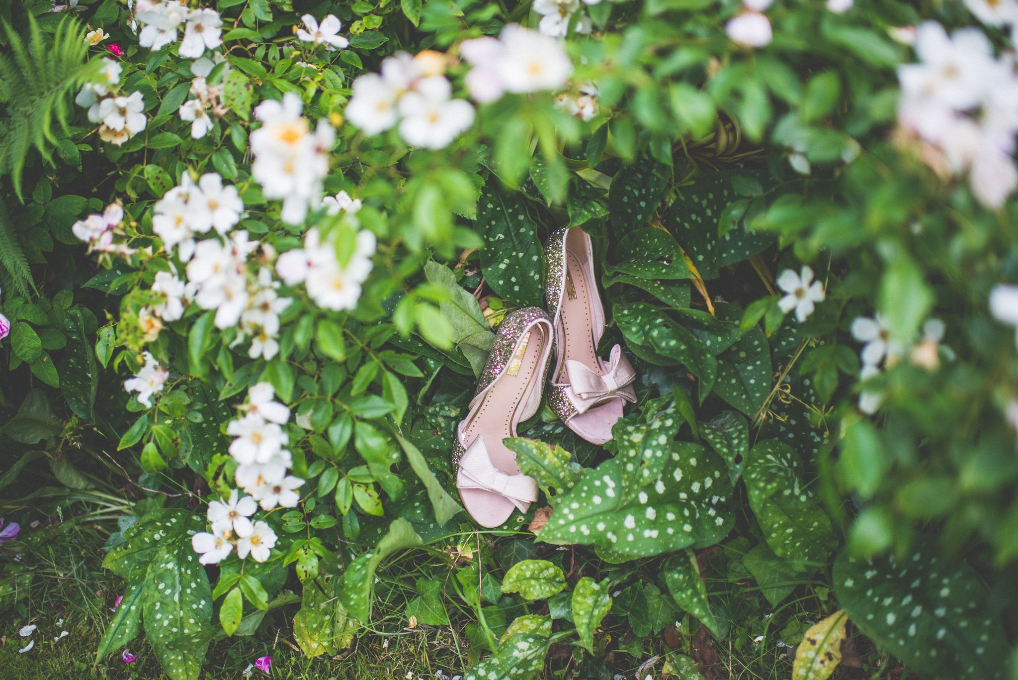 Lilac sparkly wedding shoes