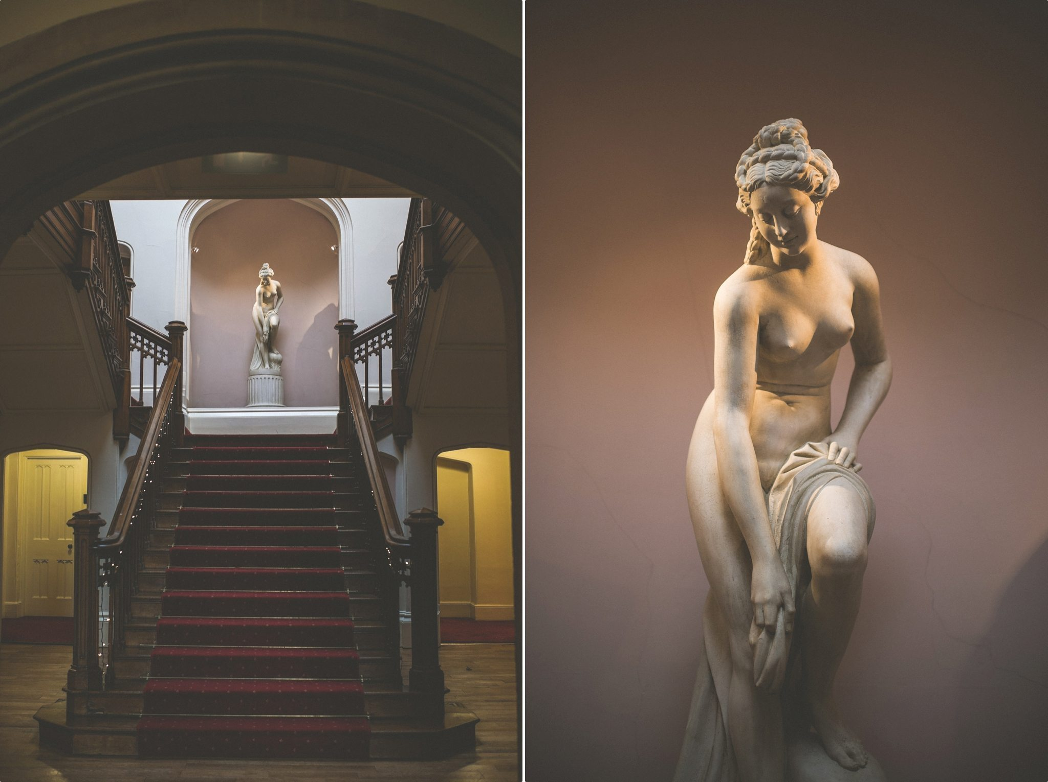 The grand staircase at St Audries Park