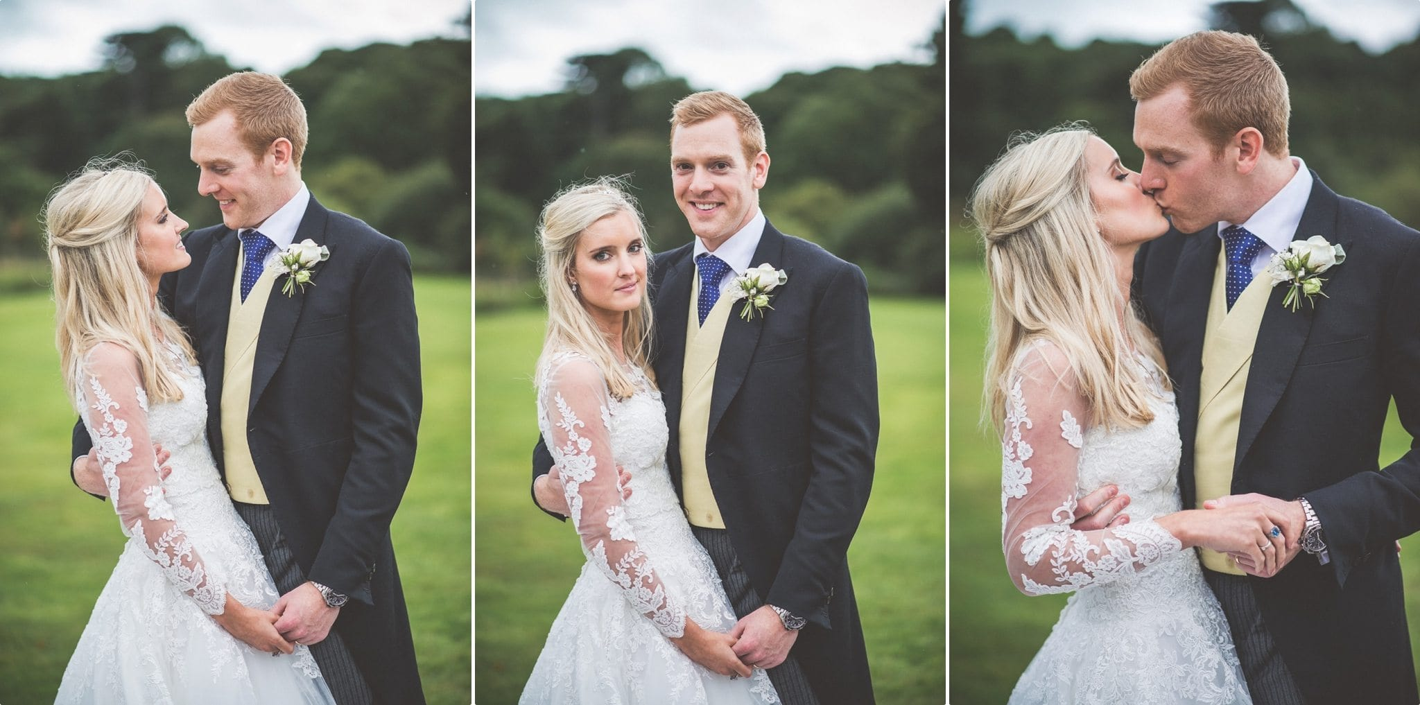 Bride and Groom married at St Audries Park