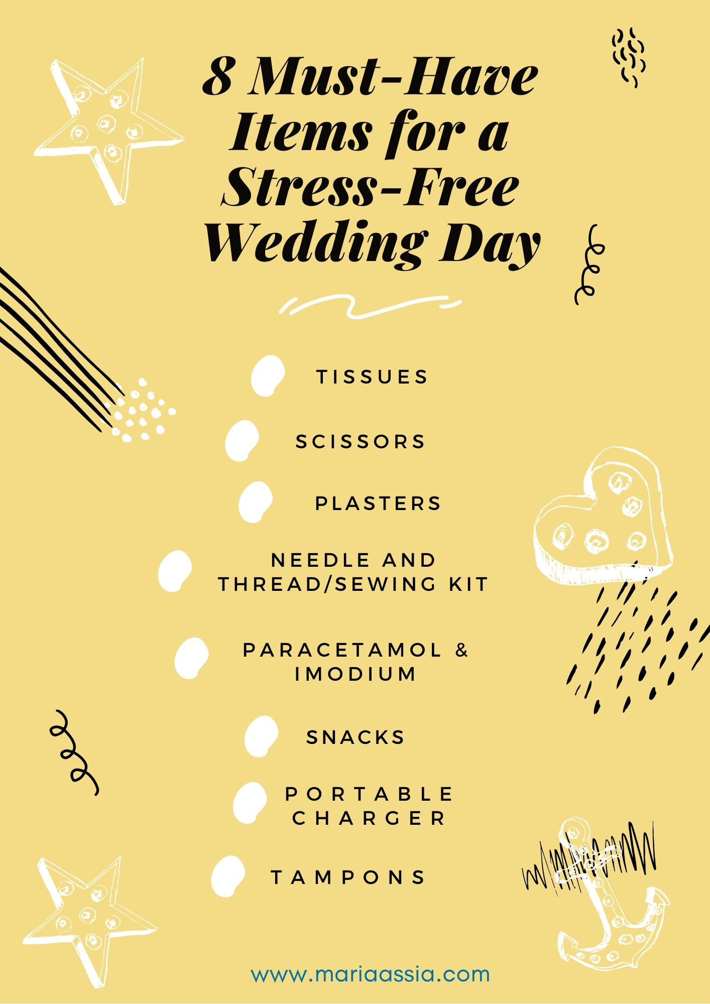 8 Must-Have Items for a Stress-Free Wedding Day