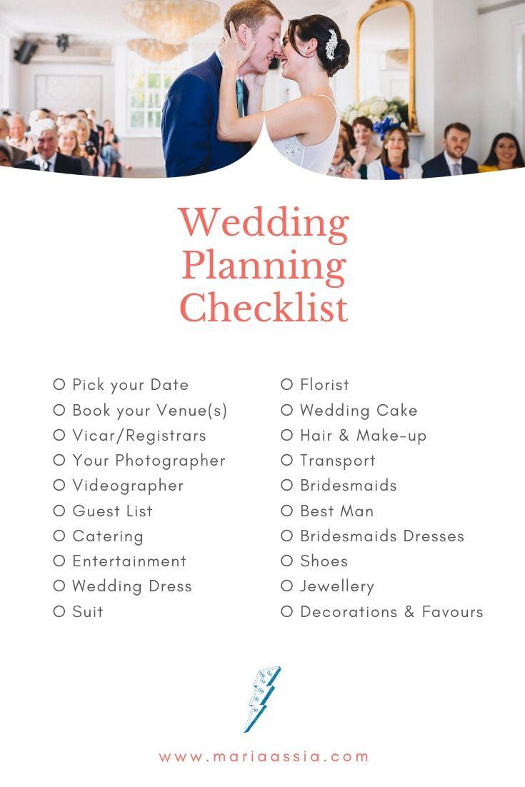 Wedding Planning Checklist for brides planning their wedding