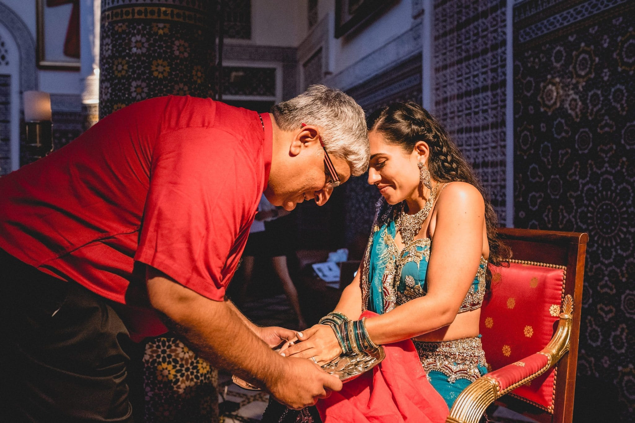 Indian wedding traditions at a Marrakech destination wedding