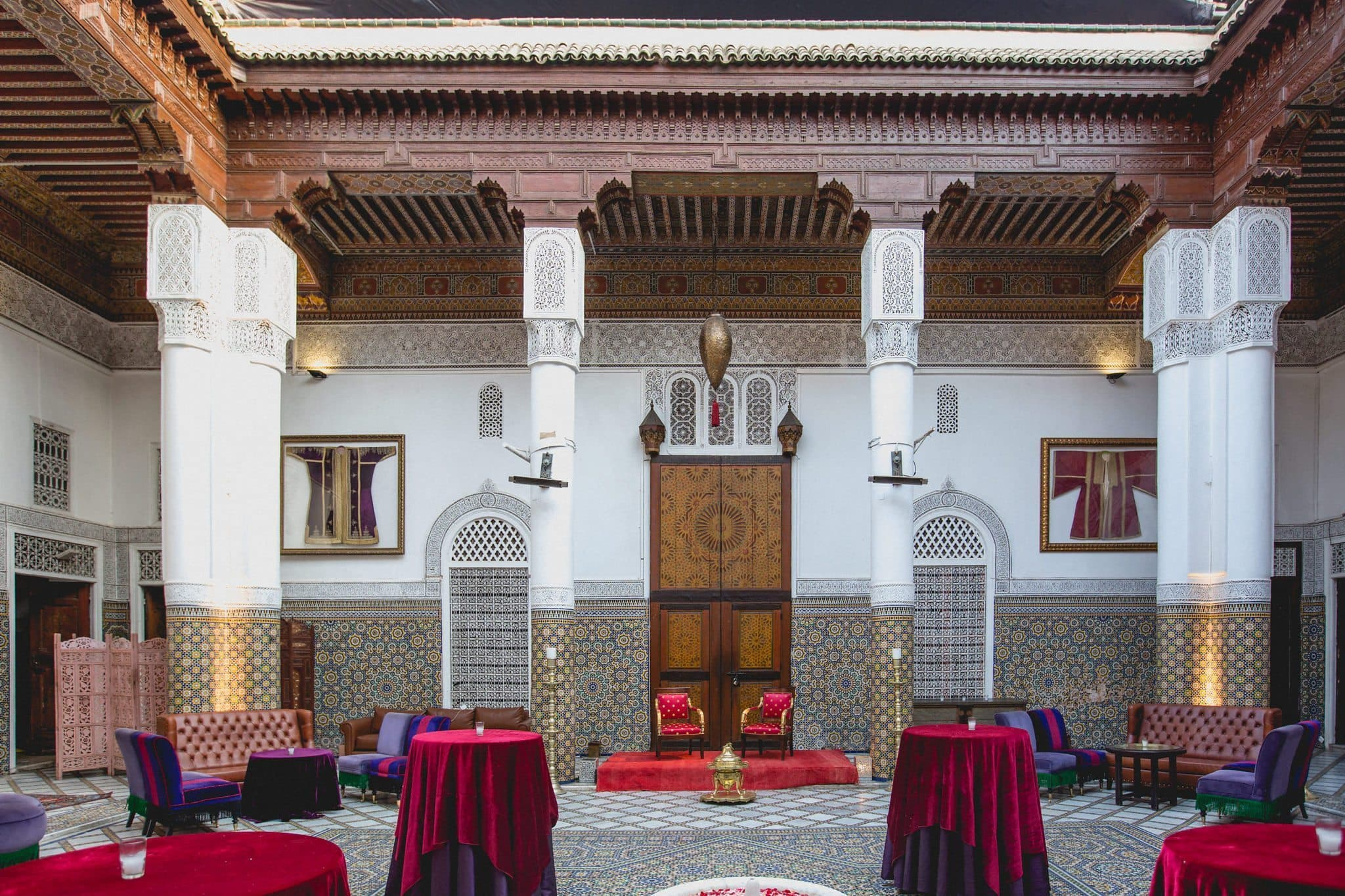 Inner Courtyard at Palais Soleiman Restaurant in Marrakech