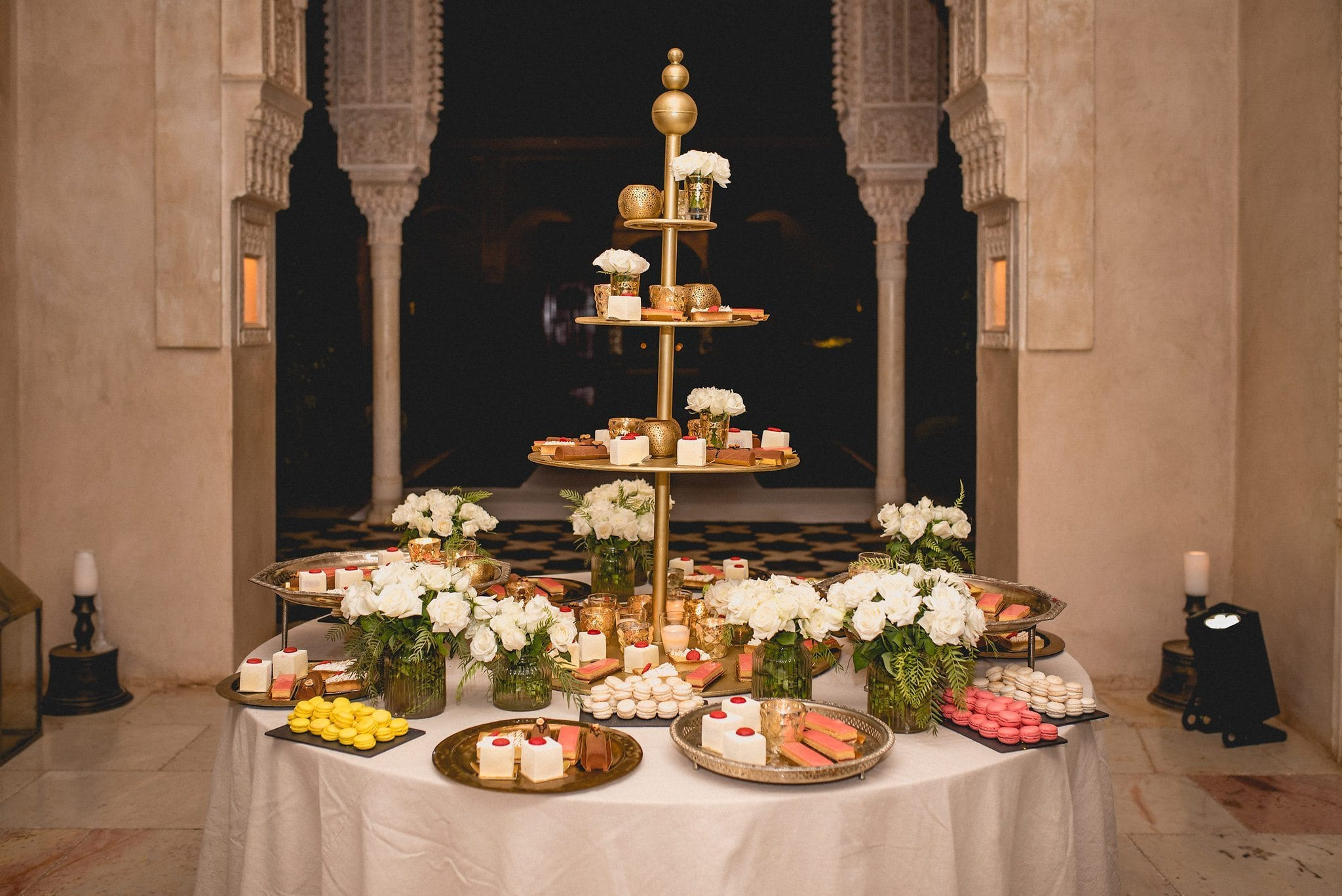 Moroccan Sweets on a wedding desert table at Ksar Char Bagh