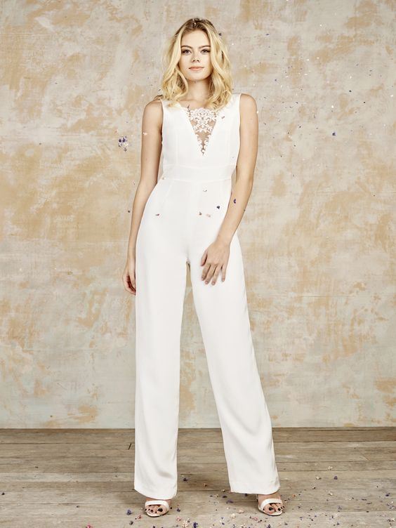 Goodwin bridal jumpsuit from House of Ollichon