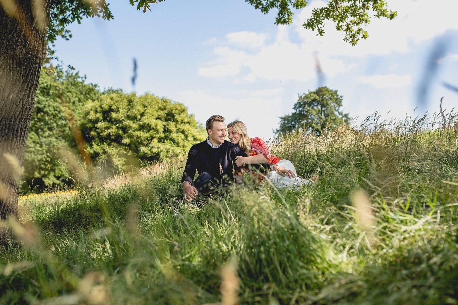 Summer Wild Flower Meadow Coworth Park Prewedding Shoot