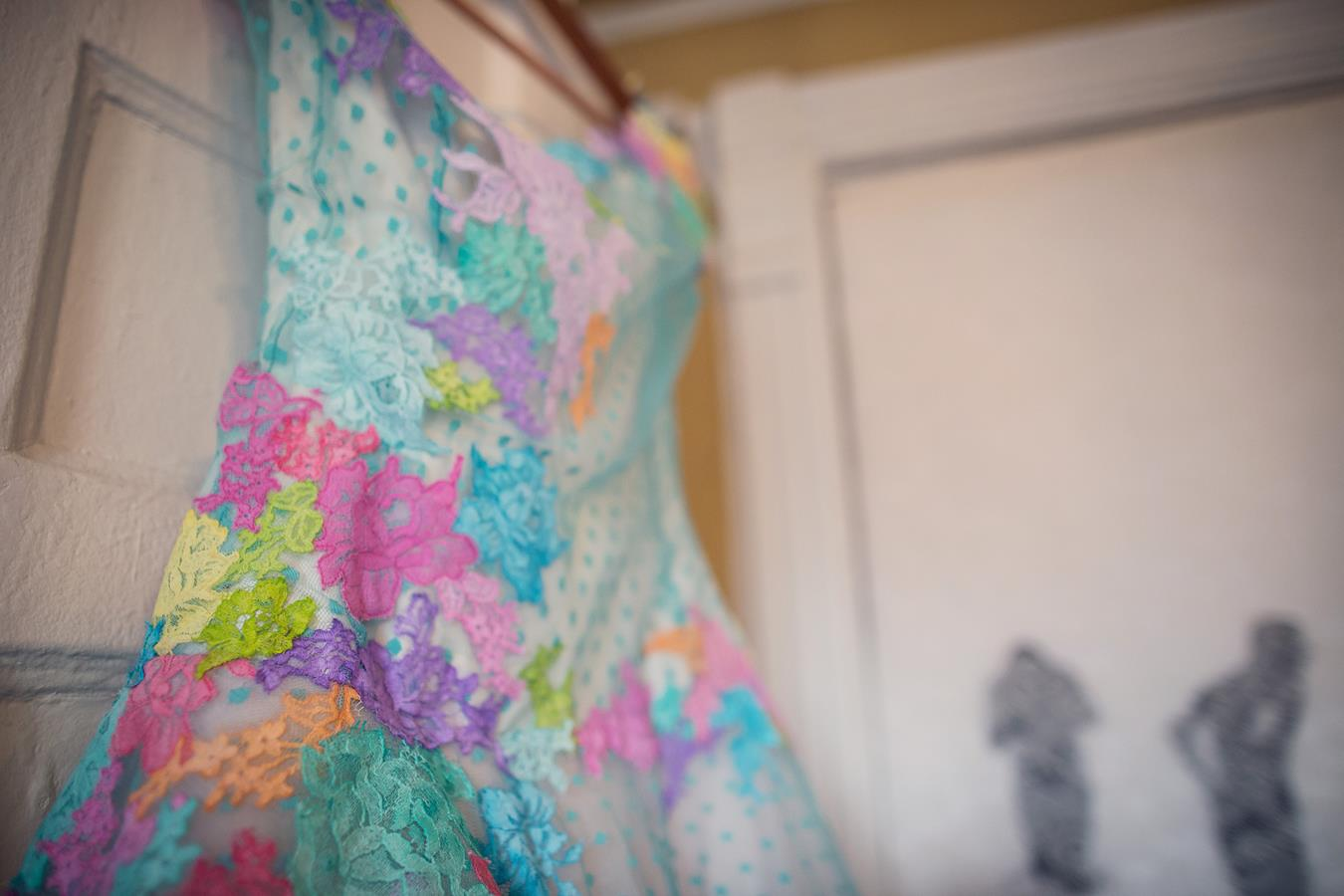 Multicoloured lace dress by The Couture Company