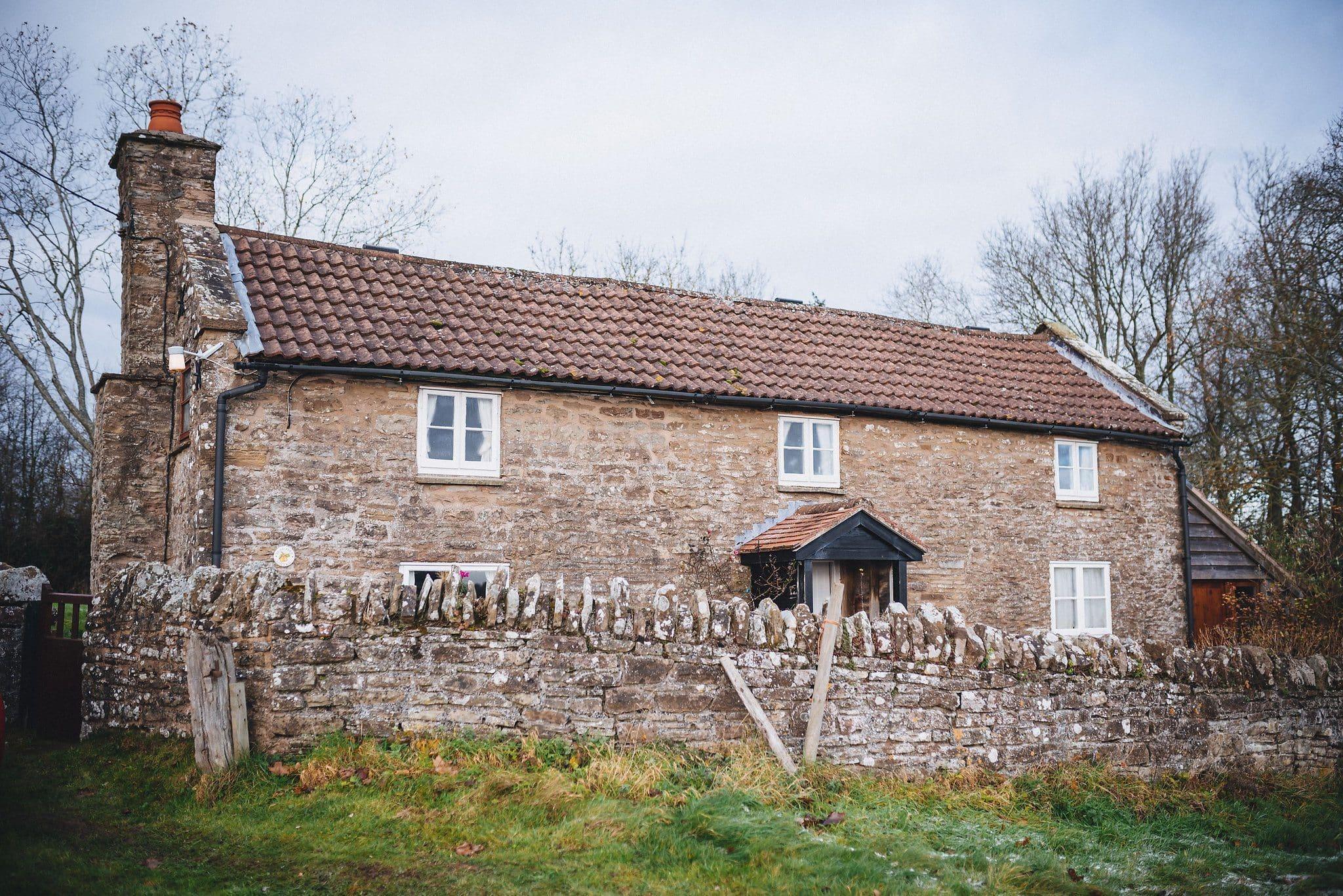 External shot of bride's parents' house