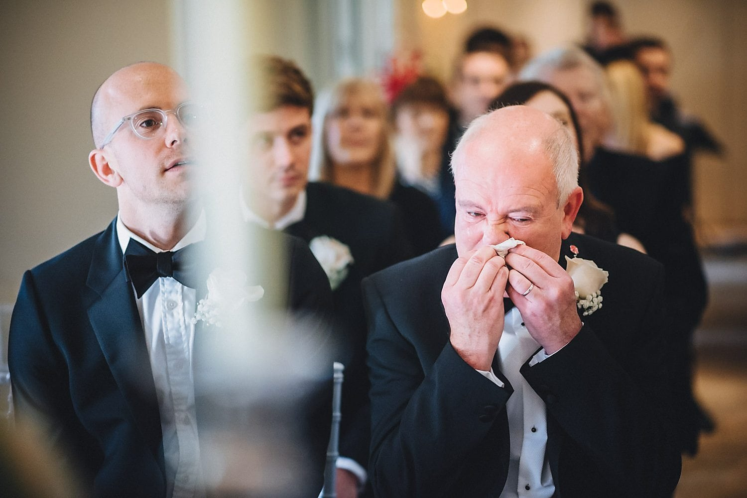Guests get emotional during wedding ceremony