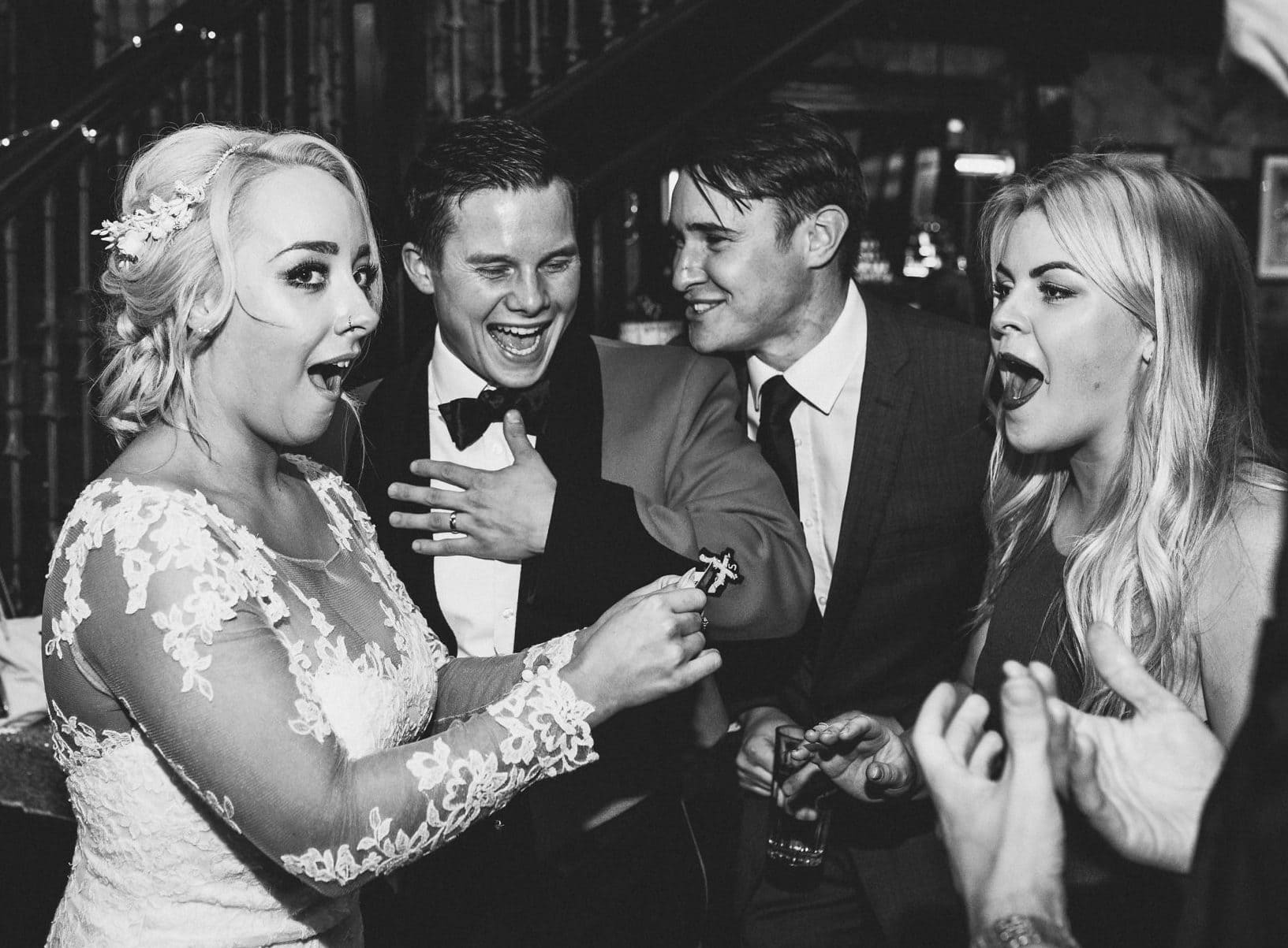 Bride and groom are wowed by their magician