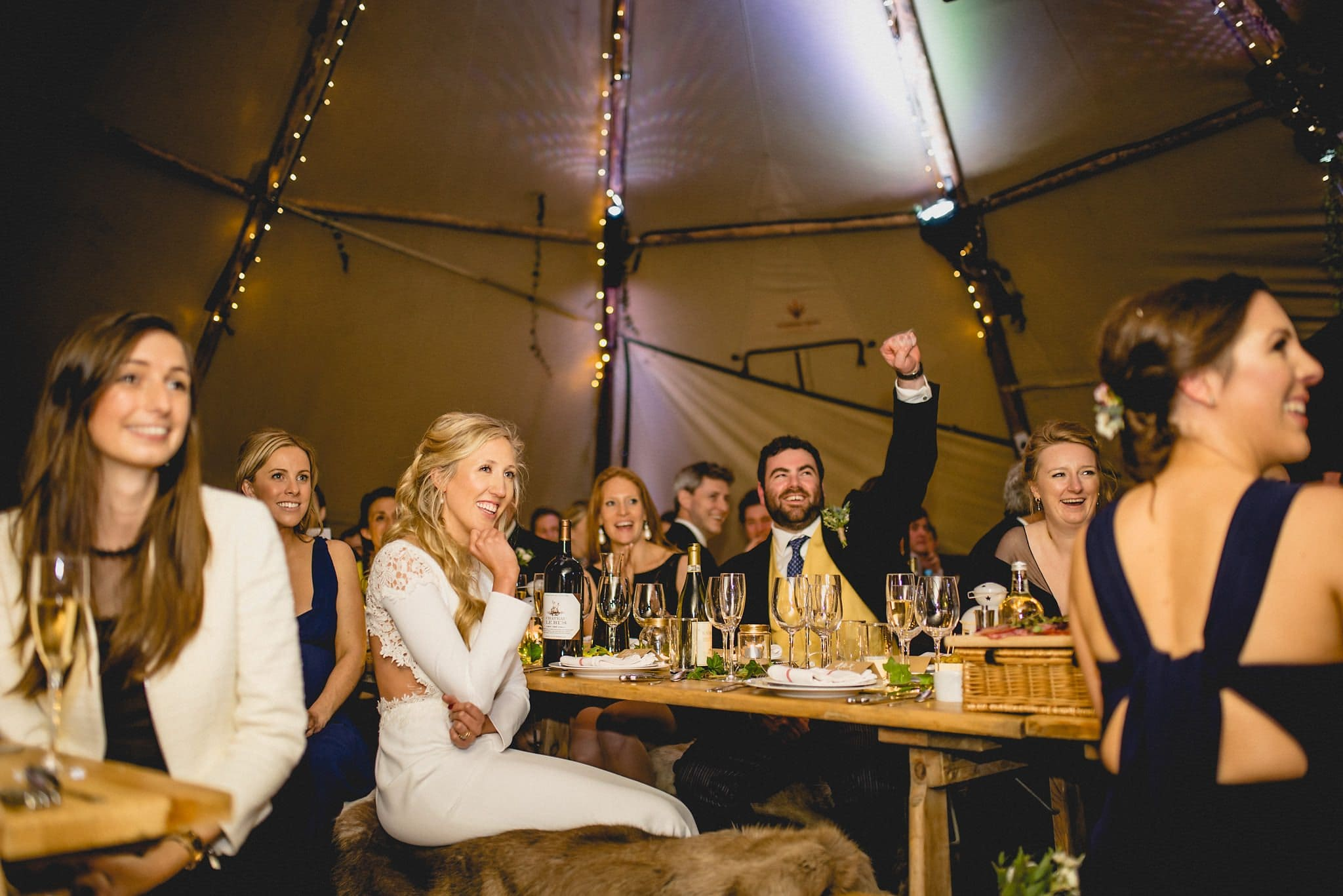 Speeches at a Stylish Tipi Wedding
