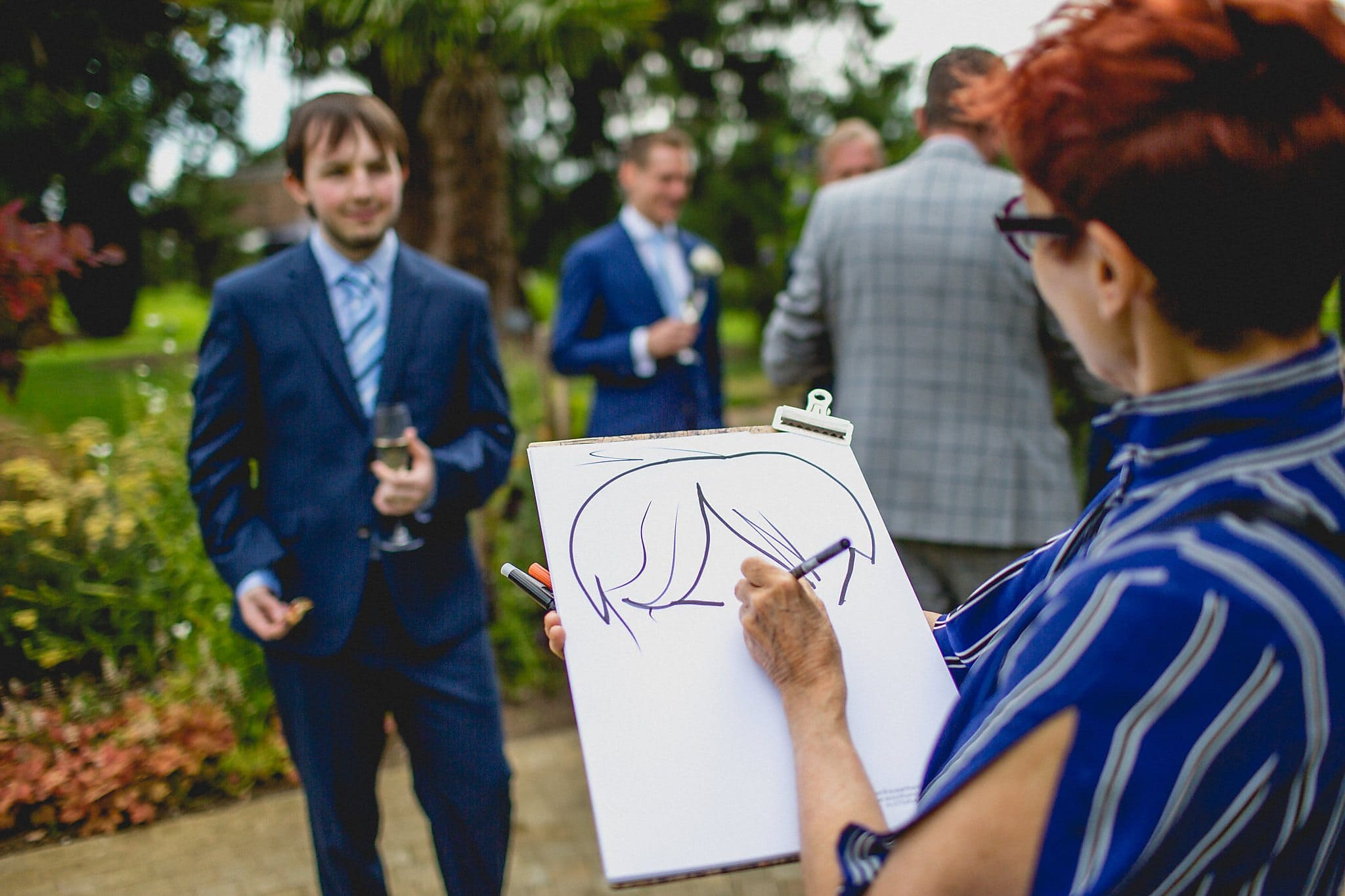 The caricaturist in action