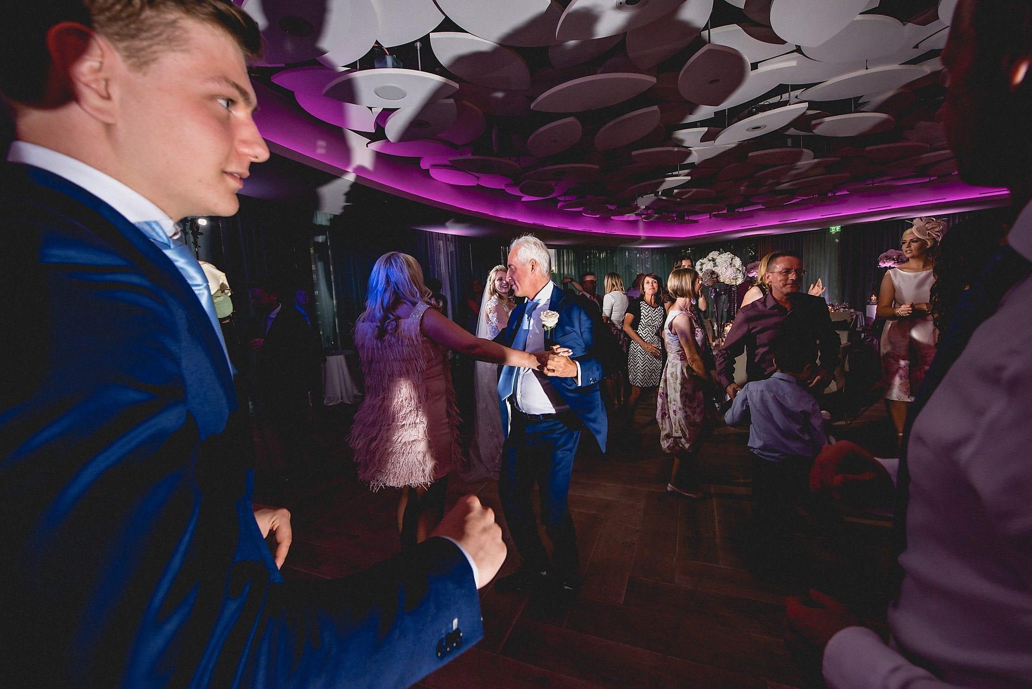 The dancefloor fills up