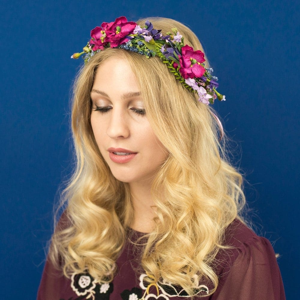 Meadow flower headband by Crown and Glory