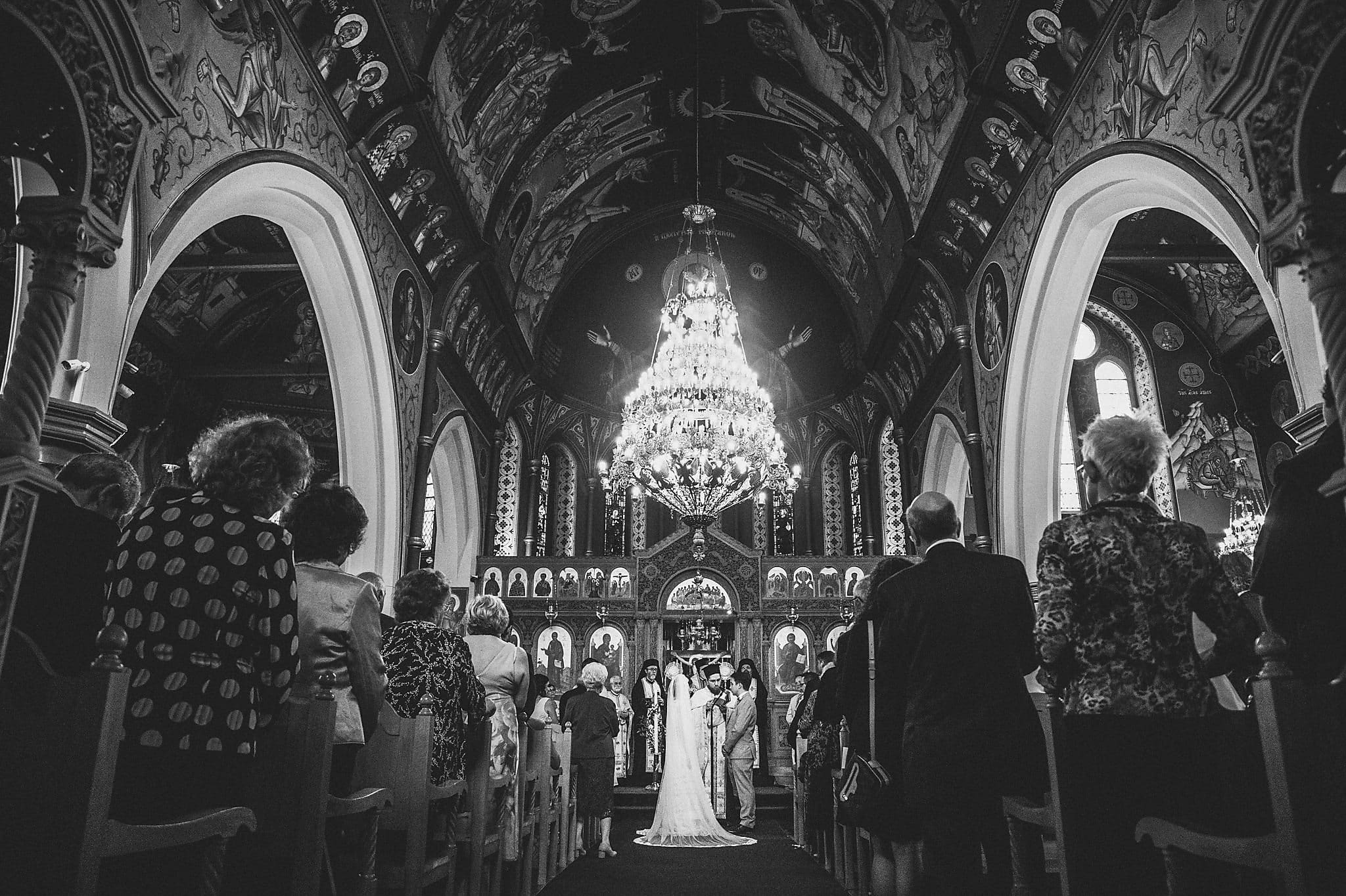 Saint Andrew's Greek Orthodox Church for a Modern Greek Wedding