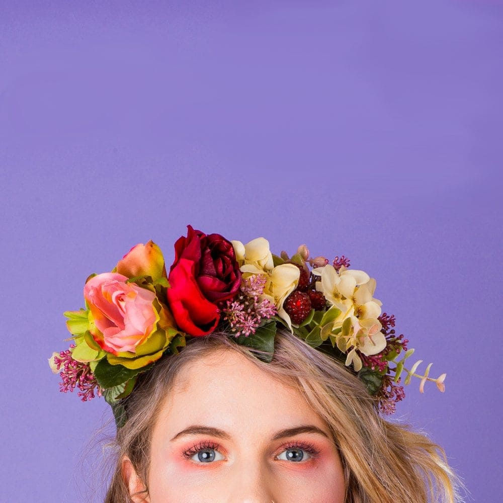 Big bright flower crown by Crown and Glory