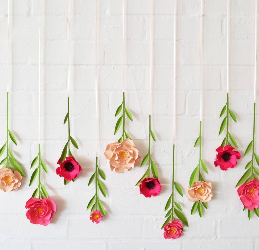 Hanging paper flowers by May Contain Glitter