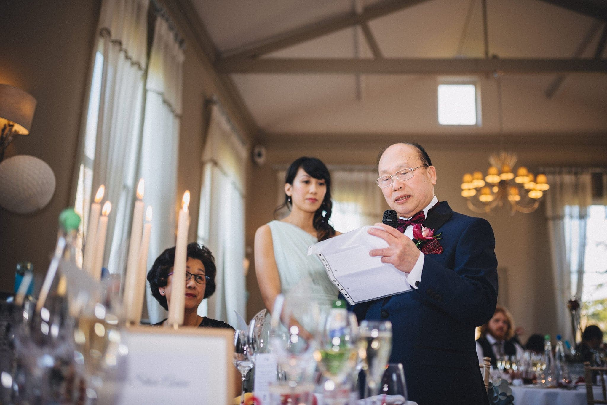 Father of the bride gives speech at Morden Hall