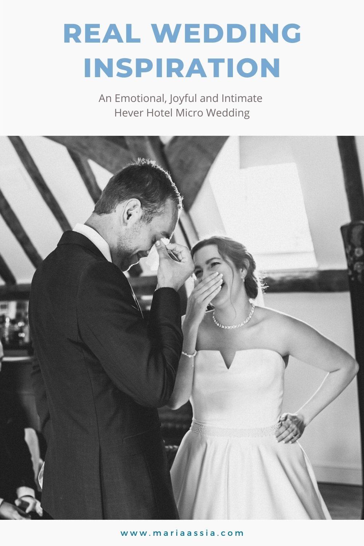 Real Wedding inspiration of a Emotional & Joyful Hever Hotel Micro Wedding
